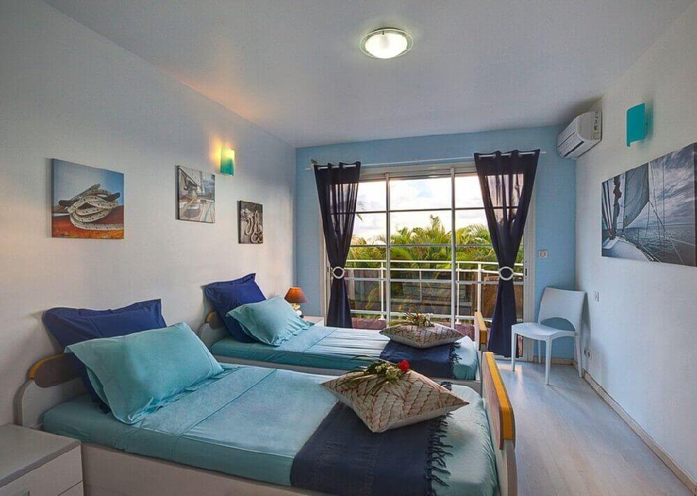 Chambre lits simples Antilles