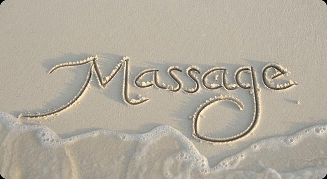 Massage de bien-être en esquisse