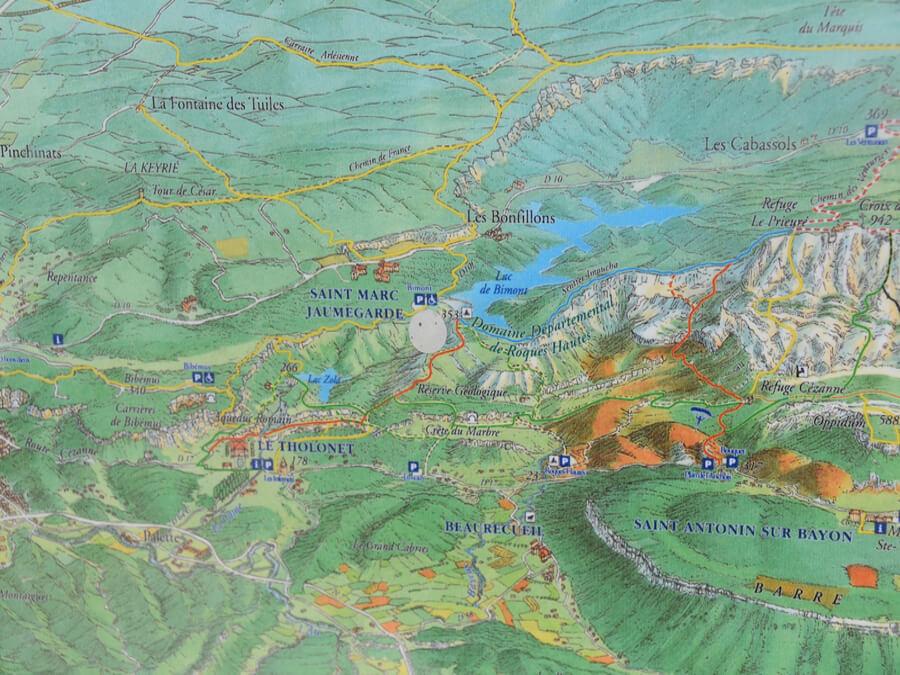 Plan rando Sainte Victoire