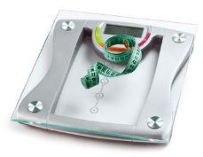 IMC - Pèse personne et mètre à mesurer pour calcul corpulence