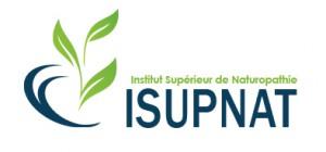 Logo ISUPNAT - INSTITUT SUPERIEUR DE NATUROPATHIE