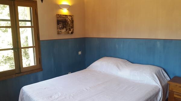 Chambre double 1er - Vue lit