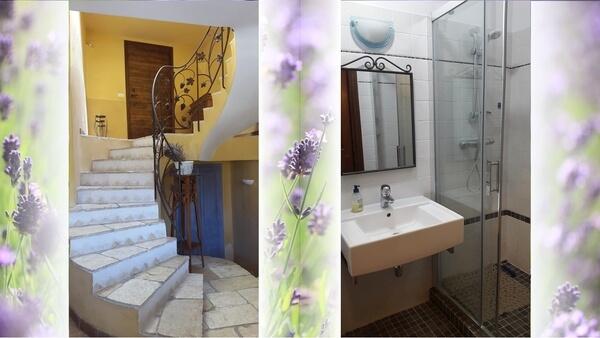 Escalier et Salle d'eau RDC
