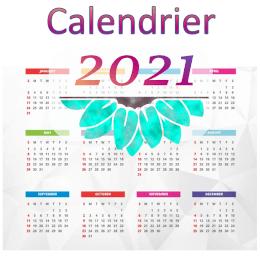 Icone calendrier 2021